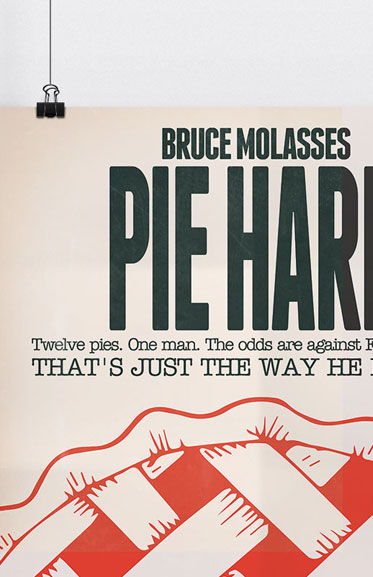 Pie Hard Movie Poster Spoof