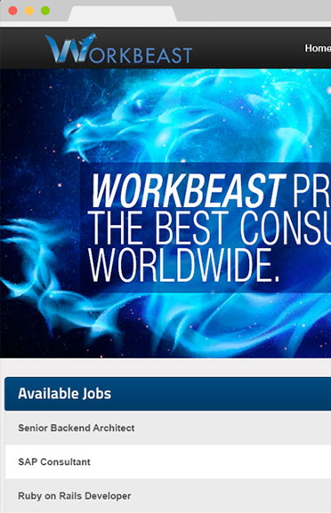 Workbeast Website Design