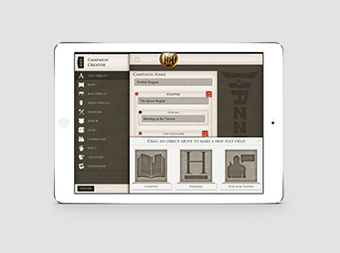Hazzah iPad Pathfinder Game