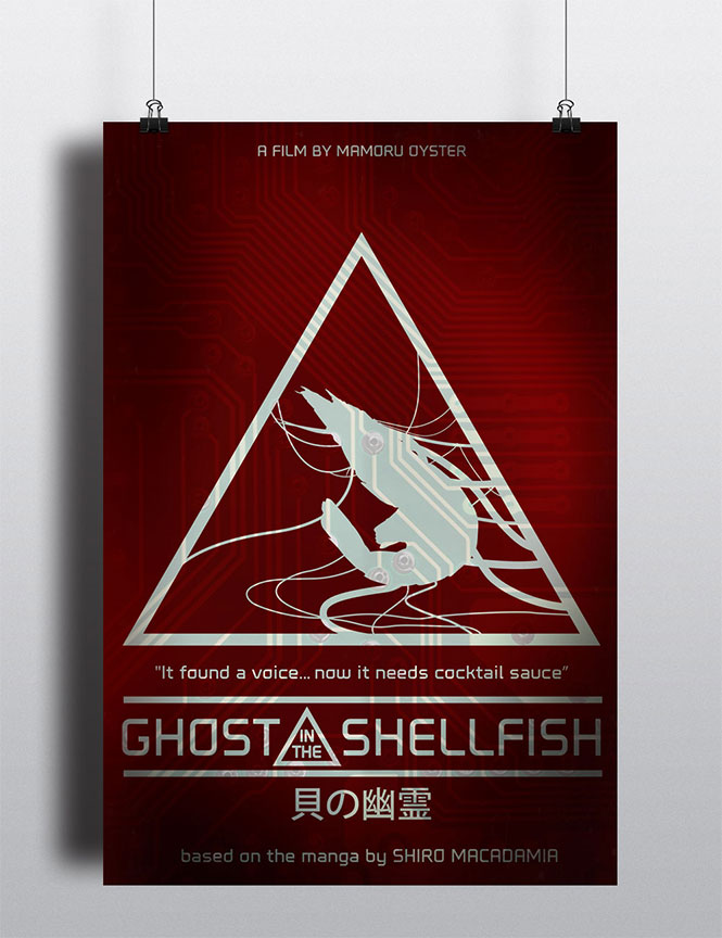 Ghost in the Shellfish Movie Poster Spoof