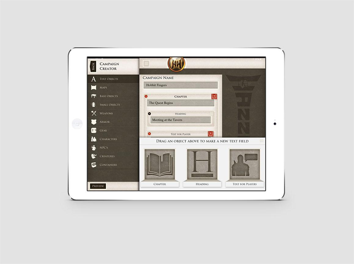 Hazzah iPad Pathfinder Game 1