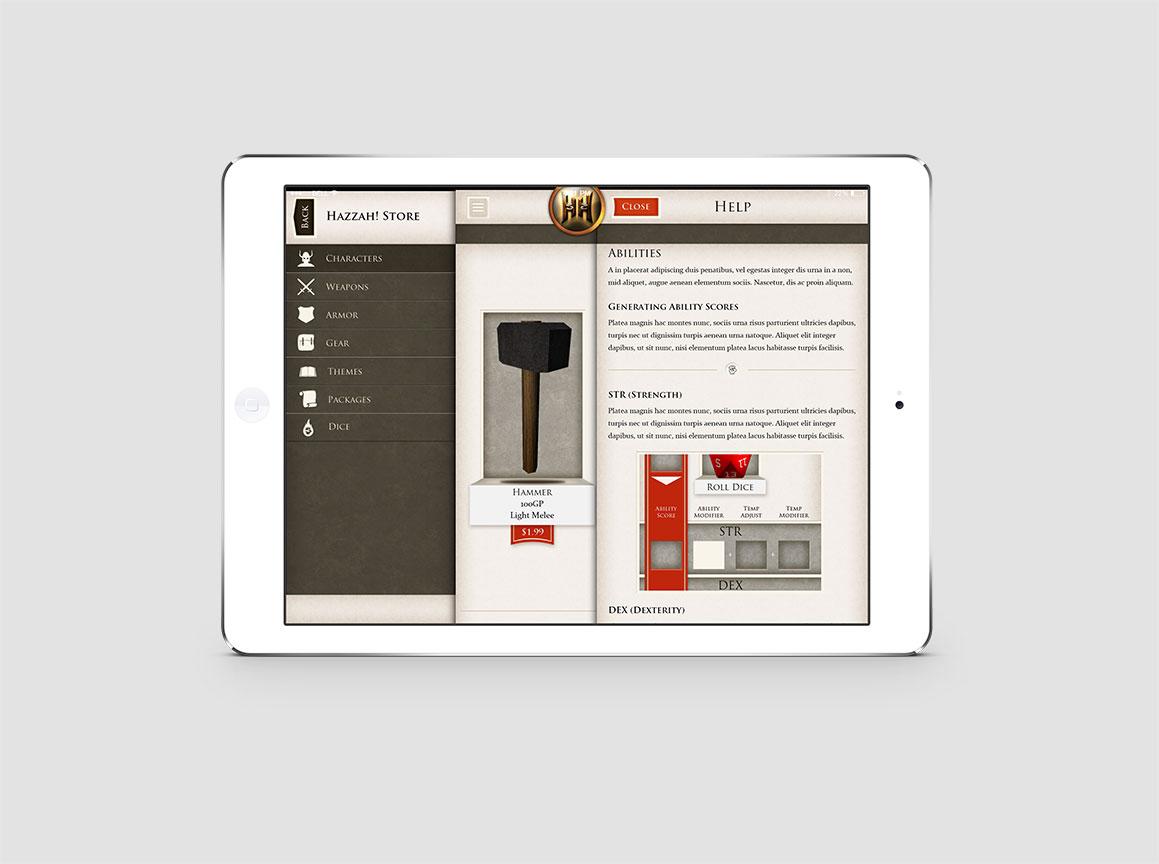 Hazzah iPad Pathfinder Game 5