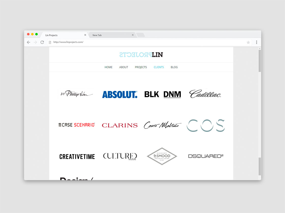 Lin Projects Website Design 3