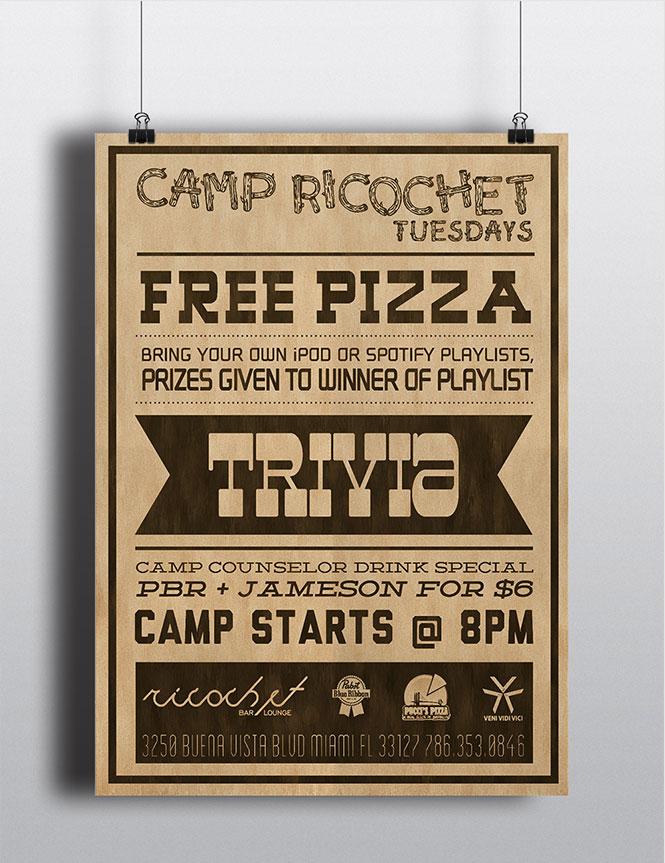 Camp Ricochet Flyer